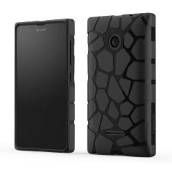 Mozo Coque Silicone Works Noire Pour Microsoft Lumia 435