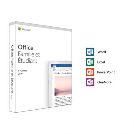 Licence Microsoft Office : Famille et Étudiant