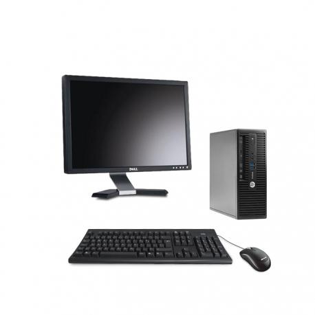 Pack HP ProDesk 400 G3 SFF - 8Go + Ecran 20