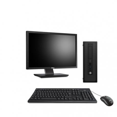 HP ProDesk 600 G1 SFF - 8Go - 120Go SSD - Ecran 22