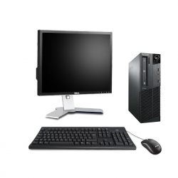 """Lenovo ThinkCentre M81 SFF - i5 - 8Go - 250Go HDD + écran 19"""" - Ubuntu / Linux"""