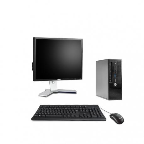 Pack HP ProDesk 400 G3 SFF linux  + Ecran 19