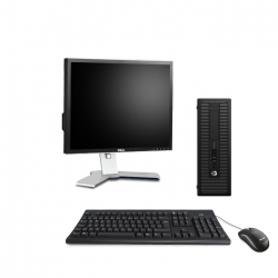 HP ProDesk 600 G1 SFF Linux - 4Go - 500Go SSD - Ecran 19
