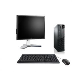 "Pack M73 Lenovo thinkcentre - Pentium - 4Go - 120Go SSD linux + Ecran 19"""