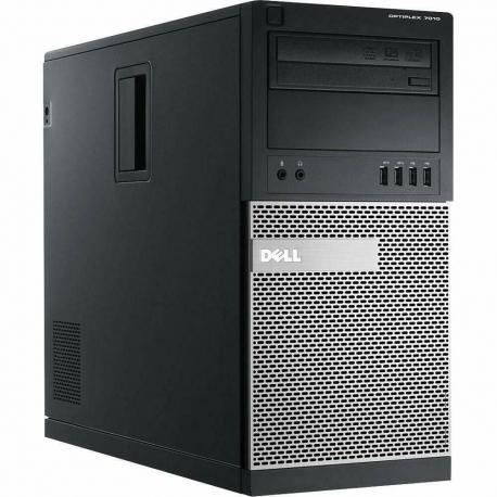 Ordinateur de bureau - Dell OptiPlex 7010 MT reconditionné - 4Go - SSD 240Go - Windows 10