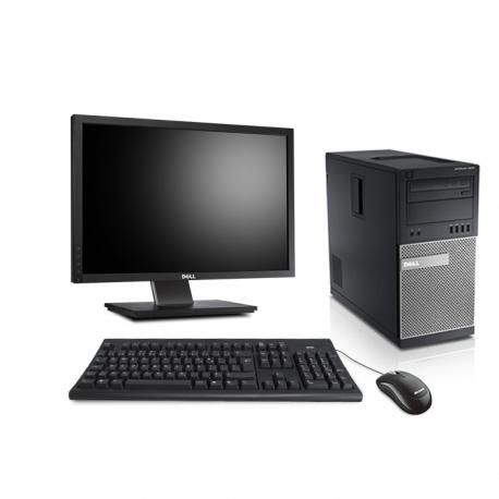"""Pack Ordinateur de bureau + écran 22"""" - Dell OptiPlex 7010 MT reconditionné - 8Go - SSD 120Go - Windows 10"""