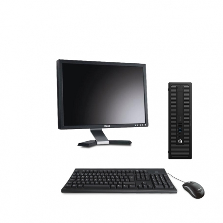 HP EliteDesk 800 G1 format SFF reconditionné - 8Go - 240Go  SSD - w10 - Ecran20