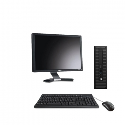 HP EliteDesk 800 G1 format SFF reconditionné - 4Go - 2To HDD - Linux - Ecran22