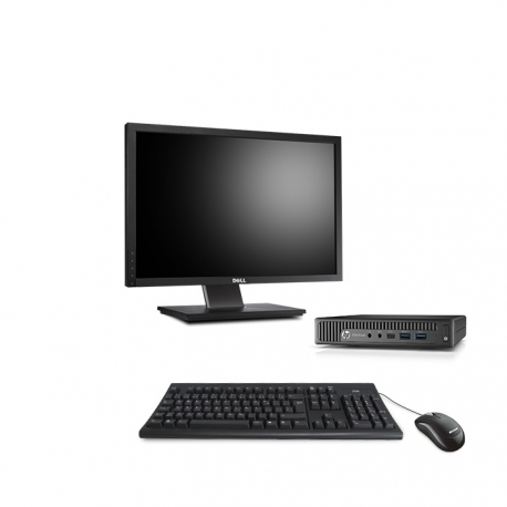 HP EliteDesk 800 G1 i5 format DM reconditionné - 8Go - 120Go SSD - Linux - Ecran22