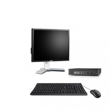 HP EliteDesk 800 G1 i5 format DM reconditionné - 4Go - 500Go SSD - Linux - Ecran19