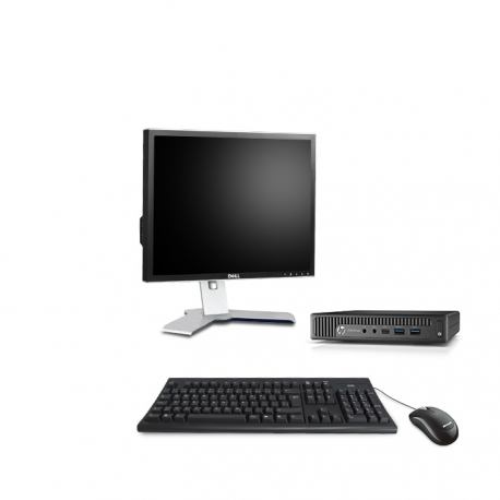 HP EliteDesk 800 G1 i5 format DM reconditionné - 4Go - 240Go SSD - W10 - Ecran19