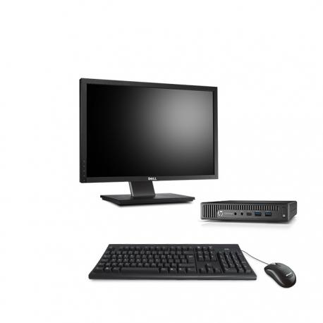 HP EliteDesk 800 G1 i5 format DM reconditionné - 8Go - 240Go SSD - W10 - Ecran20