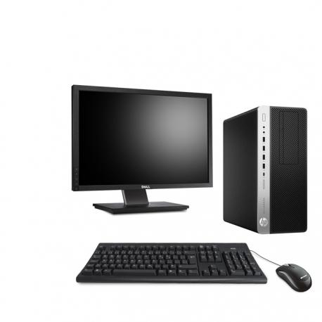 HP EliteDesk 800 G3 Tour - 4Go - 120Go SSD - ecran22