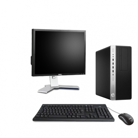 HP EliteDesk 800 G3 Tour - 8Go - 500Go HDD + Ecran 19 - Linux