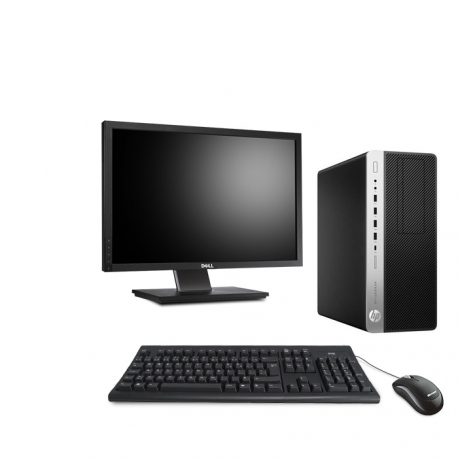 HP EliteDesk 800 G3 Tour - 8Go - 2To HDD + Ecran 22 - Linux