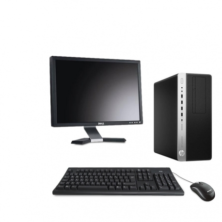 HP EliteDesk 800 G3 Tour - 8Go - 120Go SSD + Ecran 20 - Linux