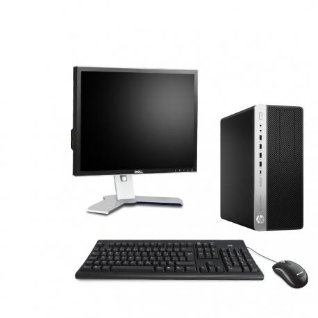 HP EliteDesk 800 G3 Tour - 8Go - 500Go SSD + Ecran 19 - Linux