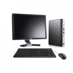 Pack HP EliteDesk 800 G3 DM avec écran 20 pouces - 8Go - 1To HDD