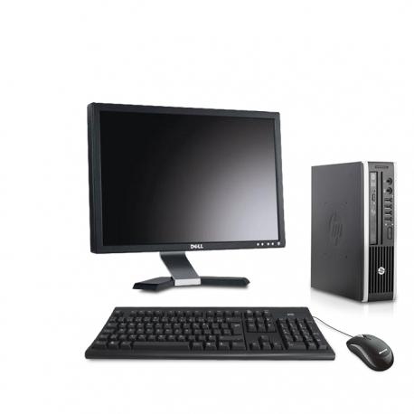 Pack HP Compaq Elite 8300 USDT linux - 4Go - 120Go SSD - Ecran 20