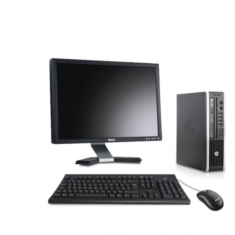 Pack HP Compaq Elite 8300 USDT linux - 8Go - 120Go SSD - Ecran 20