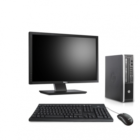 Pack HP Compaq Elite 8300 USDT linux - 4Go - 240Go SSD - Ecran 22