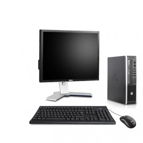 Pack HP Compaq Elite 8300 USDT linux - 4Go - 500Go SSD - Ecran 19