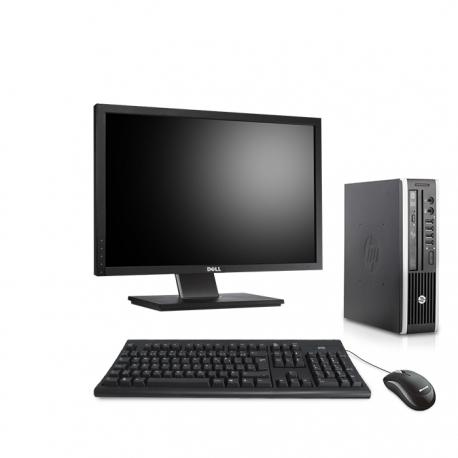 Pack HP Compaq Elite 8300 USDT linux - 4Go - 500Go SSD - Ecran 22