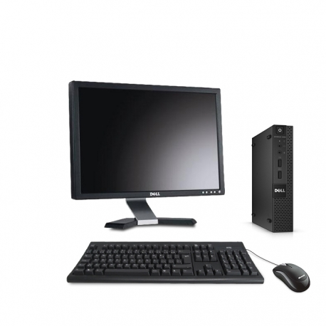 Pack Dell OptiPlex 9020 micro - 4Go - SSD 120Go - Windows 10 - Ecran 22''