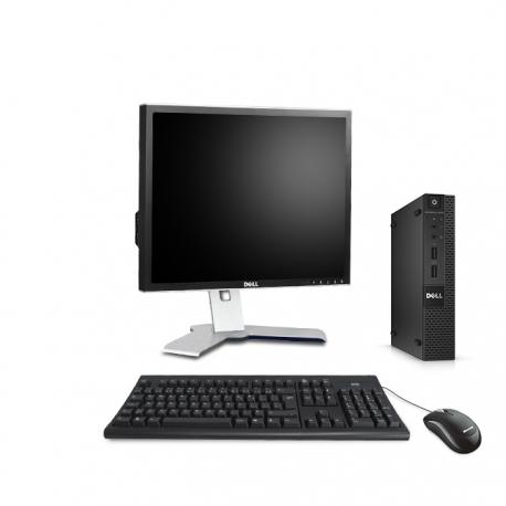 Pack Dell OptiPlex 9020 micro - 8Go - SSD 500Go - Windows 10 - Ecran 19''