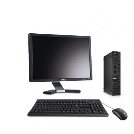 Pack Dell OptiPlex 9020 micro - 8Go - SSD 500Go - Windows 10 - Ecran 20''