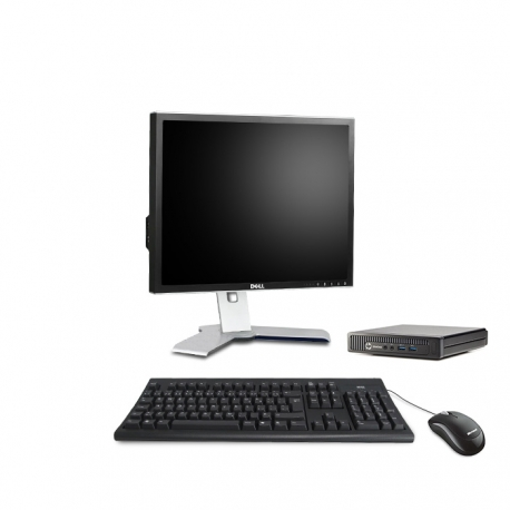 Pack HP EliteDesk 800 G1 DM avec écran 19 pouces - 8 Go - 1 To HDD