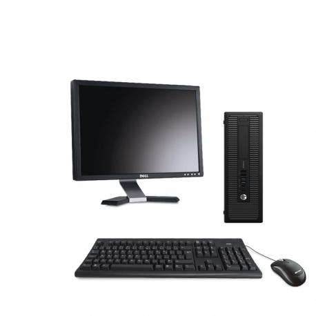 Pack HP EliteDesk 800 G1 SFF - 8Go - 120Go SSD + Ecran 20''