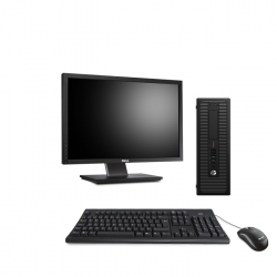 Pack HP EliteDesk 800 G1 SFF - 4Go - 500Go SSD + Ecran 22''