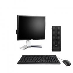 """Pack HP ProDesk 600 G1 SFF - 8Go - SSD 120 Go + Écran 19"""" - Linux"""