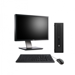 """Pack HP ProDesk 600 G1 SFF - 8Go - 500Go HDD + Écran 24"""" - Linux"""