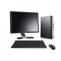 Pack HP EliteDesk 800 G3 DM avec écran 20 pouces - 8Go - SSD 120 Go