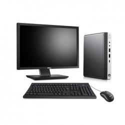 Pack HP EliteDesk 800 G3 DM avec écran 22 pouces - 8 Go - SSD 500 Go