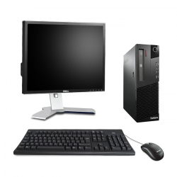 Lenovo ThinkCentre M82 SFF - Ubuntu Linux - 8Go - 250Go - Ecran 19''