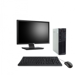 PACK Lenovo ThinkCentre M83 SFF - 8Go - 240Go SSD + Ecran 22''