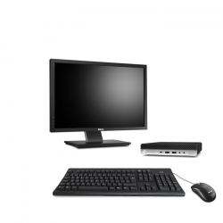 HP EliteDesk 800 G4 DM - PC de bureau reconditionné - 8Go - 240Go SSD - écran 22""