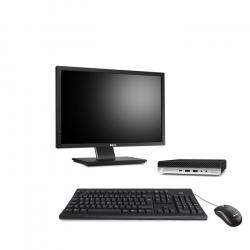 """HP EliteDesk 800 G4 DM - PC de bureau reconditionné - 16Go - 500Go SSD - écran 22"""""""