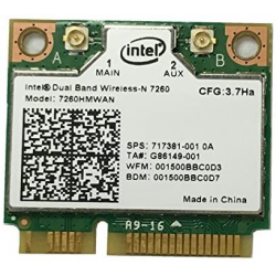 Carte WIFI Intel Dual-Band Wireless-N - Bluetooth - 7260HMW AN