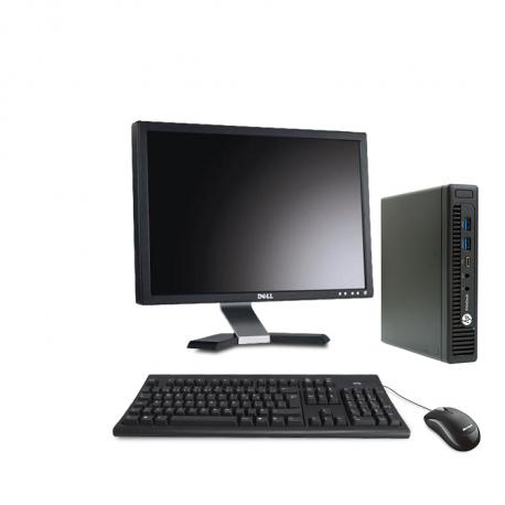 HP EliteDesk 800 G2 DM - 8Go - 1To HDD + Ecran 20