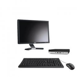 """HP EliteDesk 800 G4 DM - PC de bureau reconditionné - 16Go - 240Go SSD - écran 20"""""""