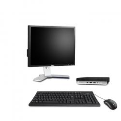 """HP EliteDesk 800 G4 DM - PC de bureau reconditionné - 16Go - 240Go SSD - écran 19"""""""