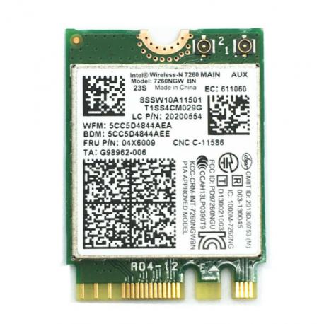 Carte WIFI Bluetooth Intel Wireless-N 7265 - 7260NGW BN