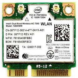 Carte WIFI Intel Dual Band Wireless-AC 7260 - 08TF1D