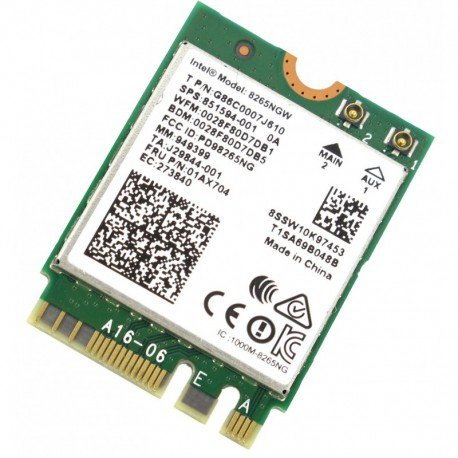 Carte Wifi sans fil Intel Wireless - 2.4G / 5G Bluetooth 4.2 - 8265AC 8265NGW