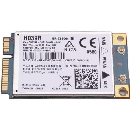 Mini carte Wifi PCI-E sans fil pour Ericsson F3607GW - H039R