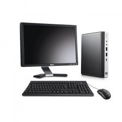 Pack HP EliteDesk 800 G3 DM avec écran 20 pouces - 16 Go - SSD 240 Go